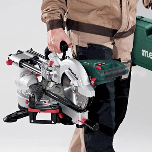 metabo kgs 216 m 216mm sliding compound mitre saw 240v. Black Bedroom Furniture Sets. Home Design Ideas