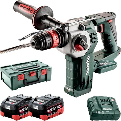 Metabo KHA18LTXBL24 Quick 18V Brushless SDS Drill (2x 5.5Ah LiHD)
