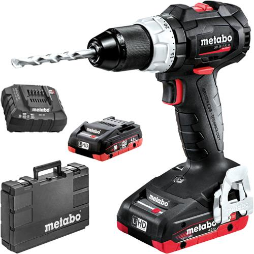 Metabo SB18LTBL 18V Brushless Combi Drill (2x 4Ah LiHD)