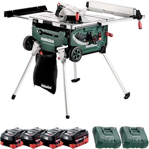 Metabo TS 36-18 LTX BL 18V Brushless 254mm Table Saw (4x 8Ah LiHD)