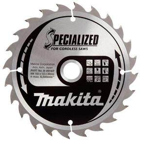 Makita TCT Cordless Saw Blade for Wood 165mm x 20mm x 24T