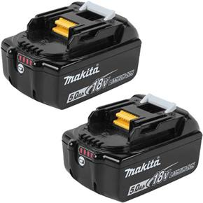 Makita 18V 5Ah Li-ion Battery (Twin Pack)