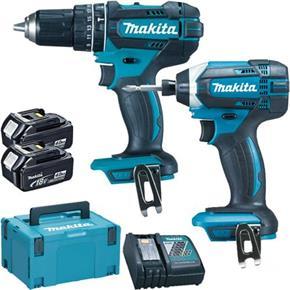 MakitaDLX2131 18V Combi Drill & Impact Driver Set (2x 4Ah)