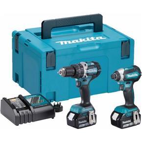 MakitaDLX2180TJ 18V Brushless Combi Drill & Impact Driver (2x 5Ah)