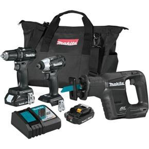Makita DLX3115AX1 3pc Brushless 18V Tool Kit (2x 2Ah)