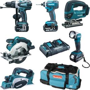 Makita DLX6067PT 6pc 18V Tool Kit (3x 5Ah)