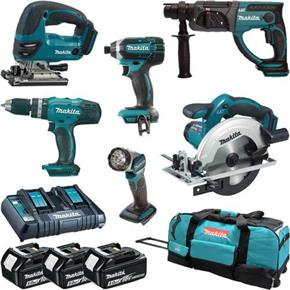 Makita DLX6068PT LXT 6pc 18V Power Tool Kit (3x 5Ah)