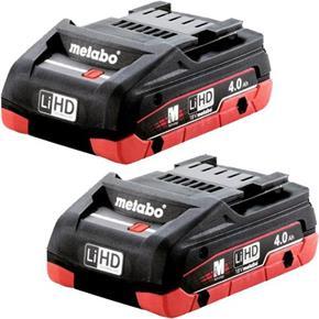 Metabo 18V 4.0Ah LiHD Battery Twin Pack