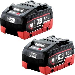 Metabo 18V 5.5Ah LiHD Battery Twin Pack