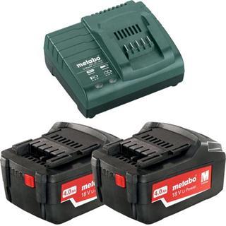 Metabo 18v Starter Kit (2x 4.0Ah Batteries + Charger)