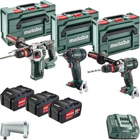 Metabo 3pc 18V Brushless Tool Kit (3x 5.2Ah)