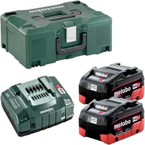Metabo18V 8Ah LiHD Battery Set with ASC 145 Fast Charger & MetaLoc