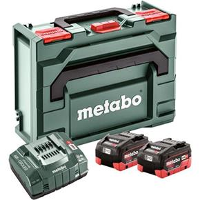 Metabo18V 8Ah LiHD Battery Set with ASC 145 Fast Charger & MetaBox