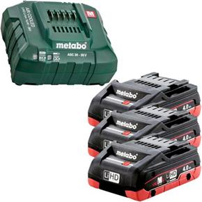 Metabo 18V Battery Kit: 3x 4Ah LiHD + ASC30-36V Charger