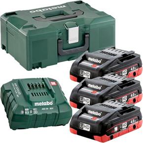 Metabo 18V Battery Kit: 3x 4Ah LiHD, ASC30-36V Charger + MetaLoc Box