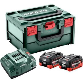 Metabo 18V 10Ah LiHD Battery Set with ASC 145 Fast Charger & MetaBox