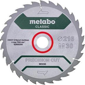 Metabo 'Precision Wood' Circular Saw Blade 216mm x 30mm x 30T