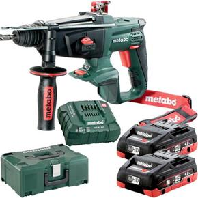 Metabo KHA18LTX 18V SDS Drill (2x 4Ah LiHD, MetaLoc Box)