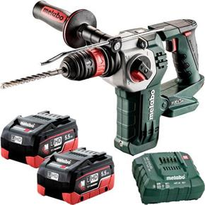 Metabo KHA18LTXBL24 Quick 18V Brushless SDS Drill (2x 5.5Ah LiHD)