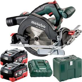 Metabo KS18LTX57 18V 165mm Circular Saw (2x 5.5Ah LiHD, MetaLoc Box)