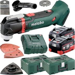 Metabo MT18LTX 18V Multi-Cutter (2x 8Ah LiHD, Accs, MetaLoc Box)