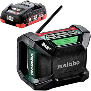 Metabo R12-18BT DAB+ Digital Site Radio with Bluetooth (1x 4Ah LiHD)