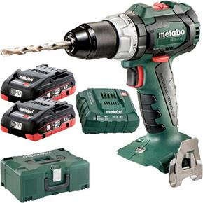 Metabo SB18LTBL 18V Brushless Combi Drill (2x 4Ah LiHD, MetaLoc)