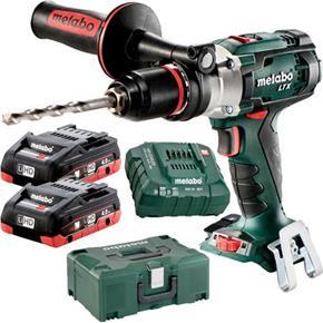 Metabo SB18LTX Impuls 18V Combi Drill (2x 4Ah LiHD, MetaLoc Box)