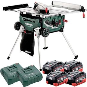 Metabo TS 36-18 LTX BL 18V Brushless 254mm Table Saw (4x 8Ah LiHD)