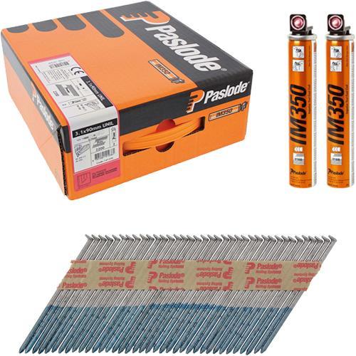 Paslode 90mm HD/Galv Unilock Nails IM350