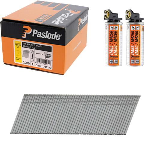 Paslode 38mm Stainless Steel Angled Brad Nails for IM65A (2000pk)
