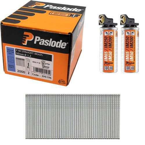 Paslode Fine Finish 18g Brads 50mm (2000pk)