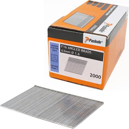 Paslode 63mm Angled Brad Nails for 16G Nailers (2000pk Without Gas)