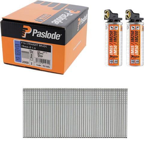 Paslode Straight Brads 19mm (Box 2000)