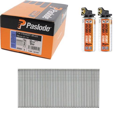 Paslode Straight Brads 25mm (Box 2000)