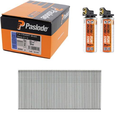 Paslode Straight Brads 50mm (Box 2000)
