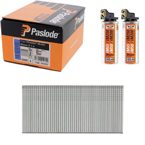 Paslode Straight Brads 63mm (Box 2000)
