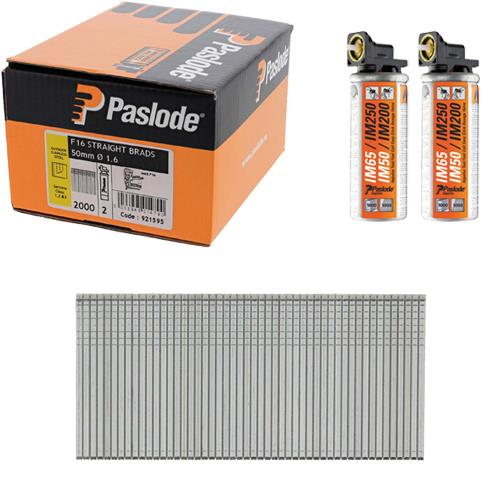 Paslode S/Steel Straight Brads 50mm (Box 2000)