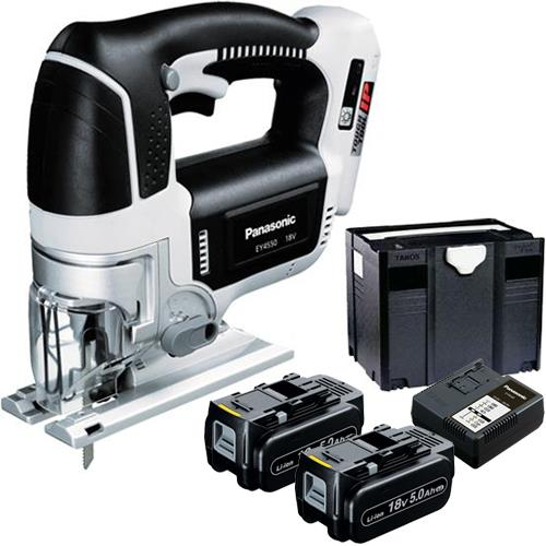 Panasonic EY4550 18V Top-Handle Jigsaw (2x 5Ah, Systainer)