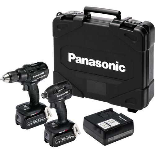 Panasonic EYC217 18V Brushless Combi Drill & Impact Driver (2x 5Ah)