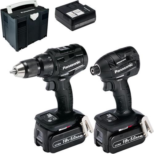 Panasonic EYC225 18V Brushless Combi Drill + Impact Driver (2x 5Ah)