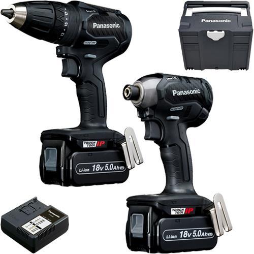 Panasonic EYC241 18V Brushless Combi Drill & Impact Driver (2x 5Ah)