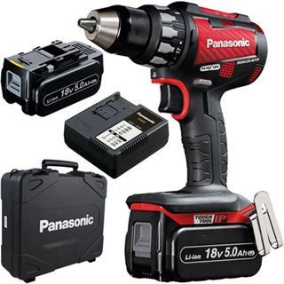 Panasonic EY74A2 Dual Voltage Drill Driver (2x 18v 5Ah)