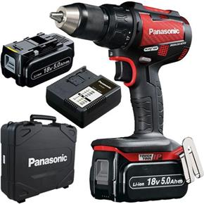 Panasonic EY79A2 18V Brushless Combi Drill (2x 5Ah) *Red Edition*