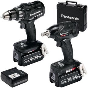 Panasonic EYC216 18V Drill Driver + Impact Wrench (5Ah)