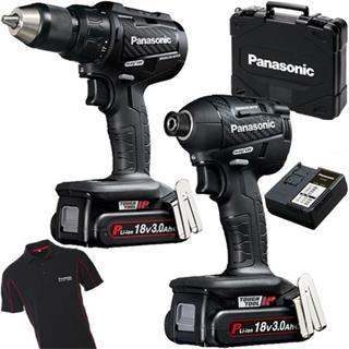 Panasonic EYC217 18V 3Ah Kit (Combi + Impact Driver)
