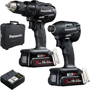 Panasonic EYC217 18V Brushless Combi Drill & Impact Driver (2x 3Ah)