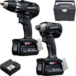 Panasonic EYC231 18V Brushless Drill Driver & Impact Driver (2x 5Ah)