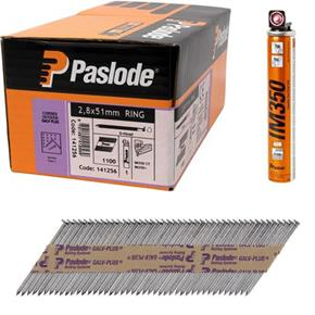 Paslode 51mm Galv+ Ring Nails IM350 1100pc