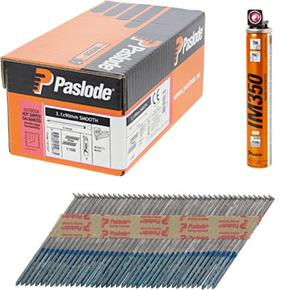 Paslode 90mm HD/Galv Smooth Nails IM350 1100pk